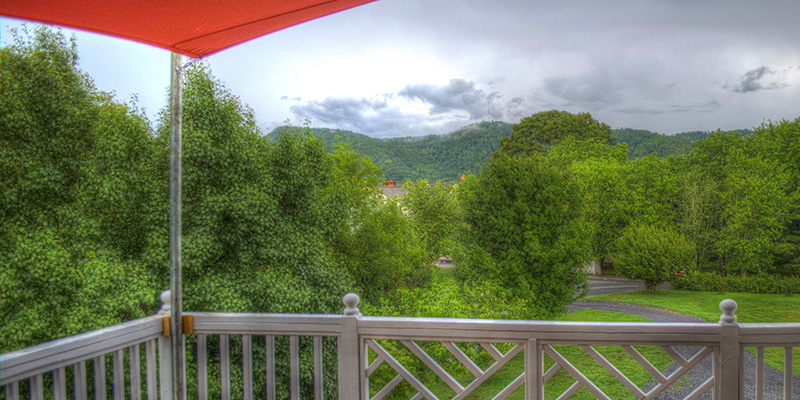 View from Sun Deck at Pigeon Forge Spa