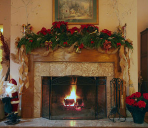 Fireplace in Blue Mountain Mist's Inn