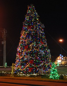 Magical Christmas tree at Pigeon Forge event